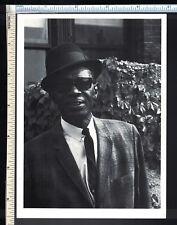 BLUES Post Card; Lightnin' Hopkins, Seldom Seen Legend; rppc photo postcard