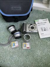 Canon PowerShot A80 4.0 MP Digital Camera - Silver  With Case, Lens , User Guide