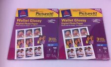 Lot 2 New Avery Photo Paper Wallet Glossy Digital Photo Paper Ink Jet 12 Sheets
