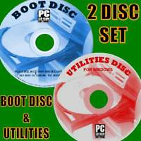BOOT DISK EASY REPAIR/DIAGNOSE All WINDOWS SYSTEMS BOOT PROBLEMS PC/LAPTOPS 2 CD