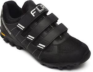 FLR Bushmaster MTB/Trail Shoe in Black/Silver With Fastening - Size 45