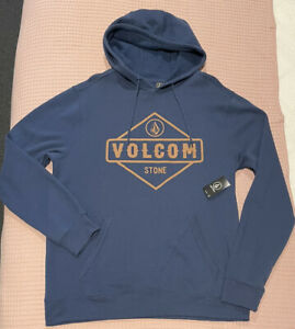 Volcom Mens Skate Blue Hoodie size L