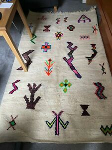 Handmade Moroccan Berber Rug Azilal, Tribal, Bohemian 245cm-148cm