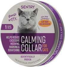 Sentry Pet Care Calming Collar for Cats Reduces Meowing in Cats and Kittens.