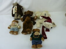 BOYDS BEARS AND FRIENDS LOT OF 5 PLUSH TOYS,BURKE,KLONDIKE,SKIDOO,EDMUND,ADMUND