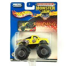 Hot Wheels Monster Jam Truck BIG DAWG Pickup Yellow 1/64 Die Cast Scale #22