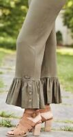 Matilda Jane TREETOPS Big Ruffles M Medium Olive New In Bag Pants Womens