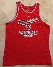Washington Nationals Nats Tank Top Muscle T-Shirt Large Red Cool Theme MLB