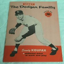 VINTAGE 1960 UNION OIL 76 GIVEAWAY THE DODGER FAMILY BOOKLET SANDY KOUFAX