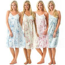 Casual Nights Women's Floral Satin Lace Night Gown