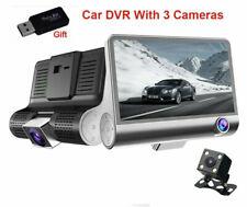 Gryan Car DVR 3 Cameras Lens Dash Camera 4.0 Inch Dual Lens With Rear View Camer