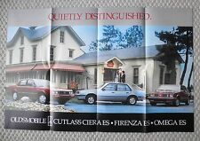 1984 Oldsmobile FIRENZA / OMEGA / CUTLASS CIERA ES Brochure / POSTER / Flyer