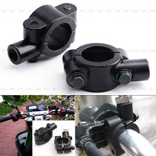 "Universal 1 Set Black Motorcycle Handlebar Mirror Mount 10mm 7/8"" Aluminum Clamp"