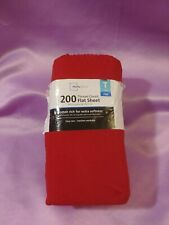 Mainstays Twin Size Flat Sheet 200 Thread Count Red Cotton Blend