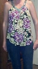Women's Free People floral/sequined V-neck blouse small petite