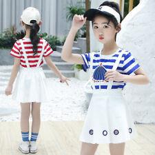 Ienens Bebé Niñas Sets de clotehs + Niños Camiseta vestidos trajes traje ropa de algodón