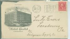 """Cleveland, OH, Hotel Euclid, Picture, 1913, Slogan Cancel """"Perry's Victory"""""""
