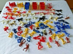 Vintage Wild West Figures Cowboy and Indians, Horses and Wagons And More