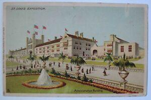 1904 St. Louis Exposition World's Fair Administration Building Postcard