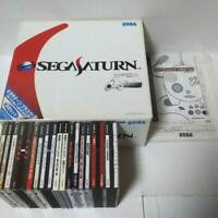 Sega Saturn white console Box set bundle + Accessories+ 16 games SS from Japan