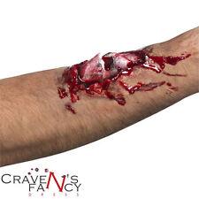 Rotto l'osso cicatrice HALLOWEEN FANCY DRESS Sangue Zombie sanguinoso MAKE UP + COLLA NUOVO