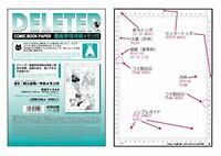 DELETER Comic Book Paper RULER A (TYPE-135-A4) A4 135kg 40sheets Manga JAPAN