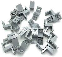 Lego 25 New Light Bluish Grey Brackets 5 x 2 x 2 1/3 Holes Bottom Stud Holder