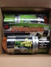"""Exhaust Chrome Muffler TIP Lighted Afterburner 1 1/4"""" - 2"""" Green Red Blue Colors"""