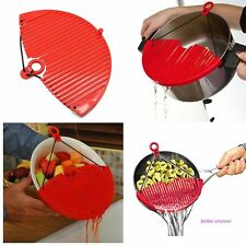 Easy Red Kitchen Strainer Tools Vegetable Food Water Filter Strong Practicality