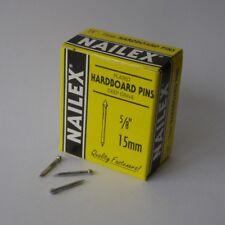Nailex Deep Drive Hardboard Pins 15mm 5/8inch 40g Box Made In England