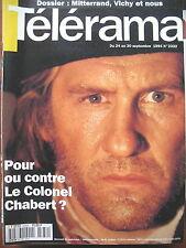 2332 DEPARDIEU CHABERT MITTERRAND ET VICHY LES WHO ROGER DALTREY TELERAMA 1994
