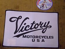 "Victory Script Patch - White - Large-P/N#2831941,9""x6"".#"