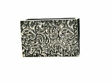 Antique Victorian Sterling Silver Matchbox Cover 4 Footed Floral Repousse 1890