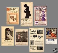 Antique Camera  Collection KODAK ADS 1886-1923 - MANY