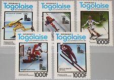 TOGO 1980 1508-12 A 1049A-49E Winter Olympics Lake Placid Ice Hockey Skiing MNH