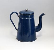 Antique Enamel Pot Blue Enamelled Iron Doesn 't Waterproof 99880047