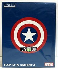 """In STOCK Mezco One 12 Collection """"Captain America"""" Marvel 1/12 Action Figure"""