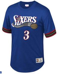 MITCHELL & NESS Philadelphia 76ers #3 Allen Iverson MESH Crew-neck JERSEY NBA