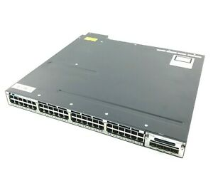 Cisco WS-C3750X-48PF-S V02 Switch PoE 48 x 1G RJ45   4 x 1G SFP Managed
