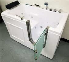 """56"""" Computerized Hydrotherapy Whirlpool Air/Water Jetted Walk-In Spa Bathtub Tub"""