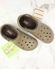 Crocs Unisex Winter Clog Mule Sipper Shoes Walnut Women's SZ 11 Men' 9