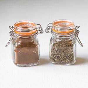 Box Set of 12 Kilner Small 70ml Clip Top Airtight Storage Jars Herb Spice Pots