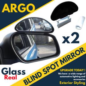 2x Blind Spot Mirror Adjustable Car Van Blindspot Towing Reversing Driving
