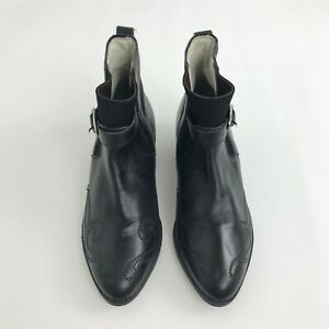 Frisky Mandic Shoes Co Women's Booties Size 5 Black Western Leather Ankle Boot