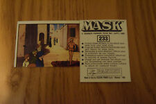Mask Panini sticker 1986 ( M.A.S.K.  Kenner parker toys ) number 233
