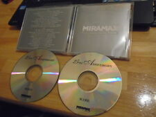 RARE PROMO Miramax Films 25th Ann. 2x CD soundtrack score U2 Philip Glass STING