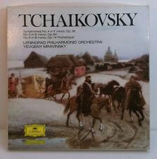 Tchaikovsky Symphonies 4-6  Leningrad DGG 4 CASSETTE TAPES BOX SET w/booklet EX