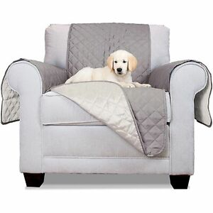 ALEKO Pet Slipcover Spill Scratch Pet Fur Protection Gray 65x70in Cover Armchair