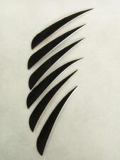 "50pcs  Archery Turkey Arrow Feather Fletching 4"" Black Right Streamline Wings"