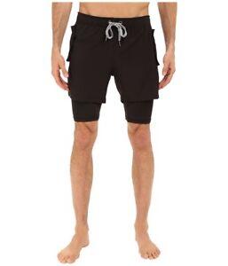 2(x)ist Men's Activewear Mesh Shorts, Black, Large L